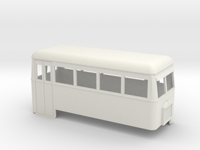 1:32/1:35 railbus 4w double end  in White Natural Versatile Plastic