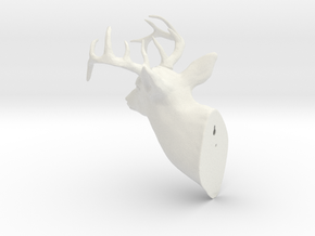 Trophy Head in White Natural Versatile Plastic
