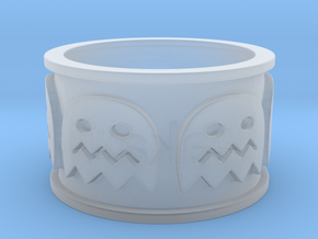 Pac-man inspired Ring Size 10 in Smooth Fine Detail Plastic