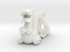 Stanford Dragon in White Natural Versatile Plastic