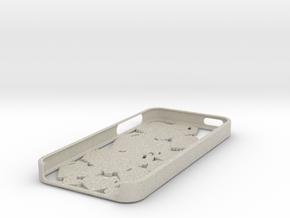 Pixel Heart iPhone 5 Case in Natural Sandstone