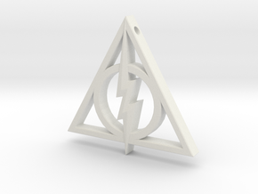 Deathly Hallows - Lightning Bolt in White Strong & Flexible