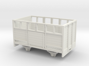 1:32/1:35 sheep wagon long in White Natural Versatile Plastic