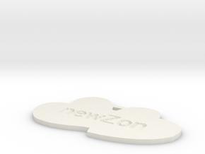 by kelecrea, engraved: newZonia in White Natural Versatile Plastic