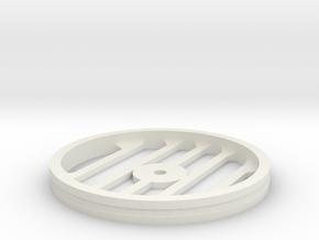 100mmFloppyBotWheel-06 in White Natural Versatile Plastic