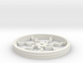 100mmFloppyBotWheel-05 in White Natural Versatile Plastic