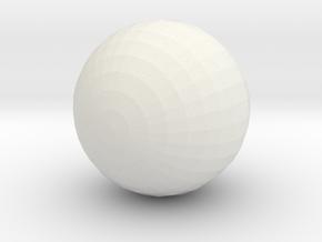 Vampire Ball in White Natural Versatile Plastic