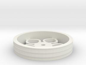 80mmFloppyBotWheel-02 in White Natural Versatile Plastic