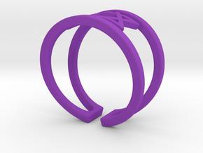 Star Of David Ring in Purple Processed Versatile Plastic