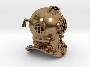 Diving Helmet in Raw Brass