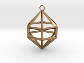 Gem Ornament in Natural Brass