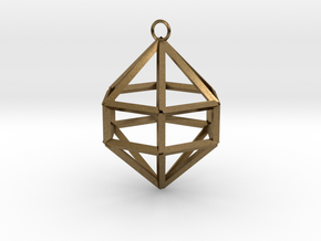 Gem Ornament in Natural Bronze