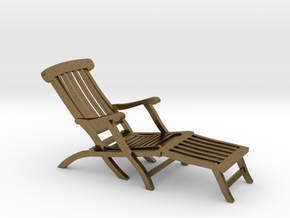 1:48 Titanic Deck Chair in Natural Bronze