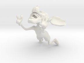 Mickey Mouse gone wild - jumping in White Strong & Flexible