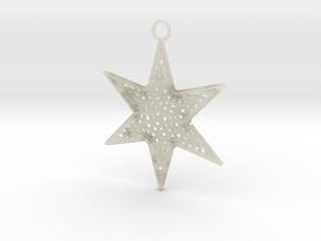 Star Ornament Medium in Transparent Acrylic