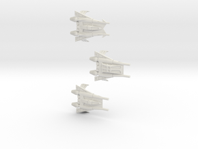 Thunder Fighter Variants 1/200 in White Natural Versatile Plastic