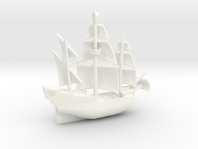 Galleon Revised (Oct 25) in White Processed Versatile Plastic