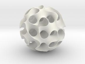 Schwartz 'D' Sphere, 8 cell in White Natural Versatile Plastic