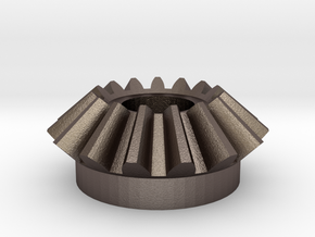 Bevel Involute Gear M1.5 T15 in Polished Bronzed Silver Steel