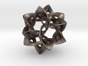 Icosahedron II, large in Polished Bronzed Silver Steel