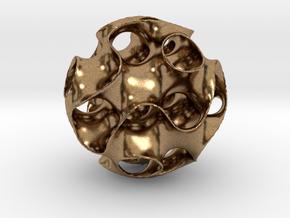 Schwartz D Sphere, small in Natural Brass