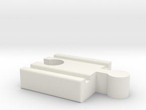 Lillabo F-Brio M Connector 40mm With Marking in White Natural Versatile Plastic