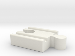 Lillabo M-Brio F Connector 40mm With Marking in White Natural Versatile Plastic