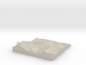 Model of Mühltal in Natural Sandstone