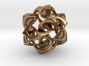 Icosahedron I, medium in Natural Brass