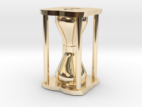 Number Hourglass Token in 14K Yellow Gold