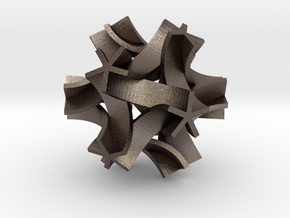 Origami I, medium in Polished Bronzed Silver Steel