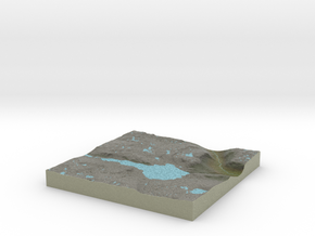 Terrafab generated model Tue Nov 05 2013 22:40:27  in Full Color Sandstone
