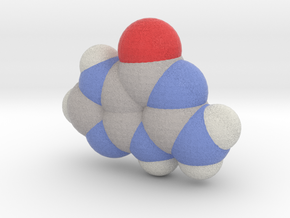 Guanine molecule (x40,000,000, 1A = 4mm) in Full Color Sandstone