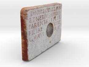 "Roman Libation Inscription (6"") in Full Color Sandstone"