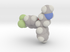 Fluoxetine molecule (x40,000,000, 1A = 4mm) in Full Color Sandstone