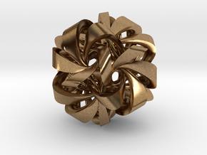 Icosahedron VII, medium in Natural Brass