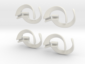 EarPod Savers four pack for active people in White Strong & Flexible