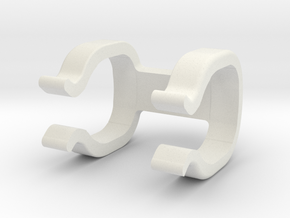 Bottom Mount in White Natural Versatile Plastic