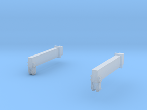 O-Scale Block & Tackle Beams in Smooth Fine Detail Plastic