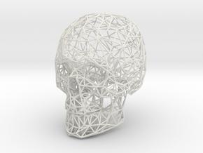 Wireframe Skull Display in White Natural Versatile Plastic