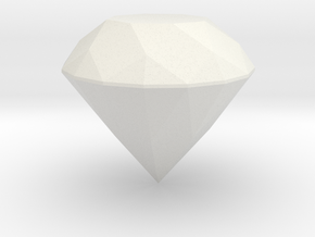 matter-Diamond in White Natural Versatile Plastic