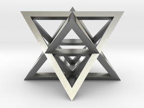 Tantric Star (aka Stellated Octahedron) in Natural Silver