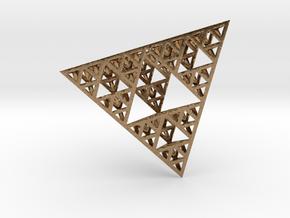Sierpinski Tetrahedron in Natural Brass