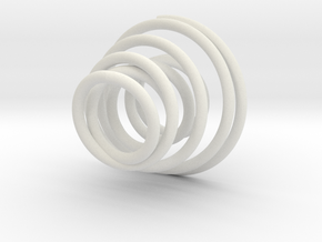 Spiral Candle Holder in White Natural Versatile Plastic