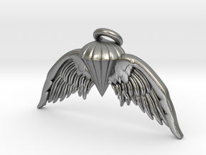 Navy Jump Angel Wings in Natural Silver