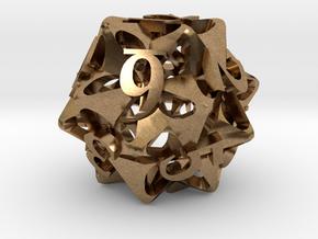 Pinwheel Die12 Ornament in Natural Brass