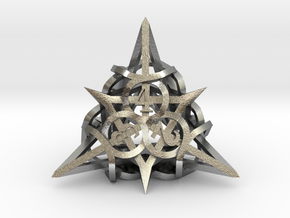 Thorn d4 Ornament in Natural Silver
