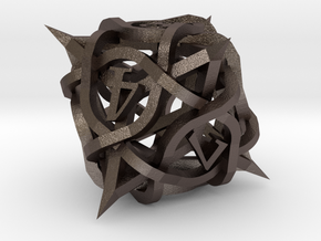 Thorn d8 Ornament in Polished Bronzed Silver Steel