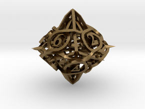 Thorn Die10 Ornament in Natural Bronze