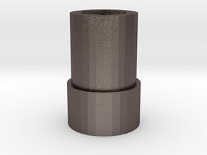 Socket  in Polished Bronzed Silver Steel
